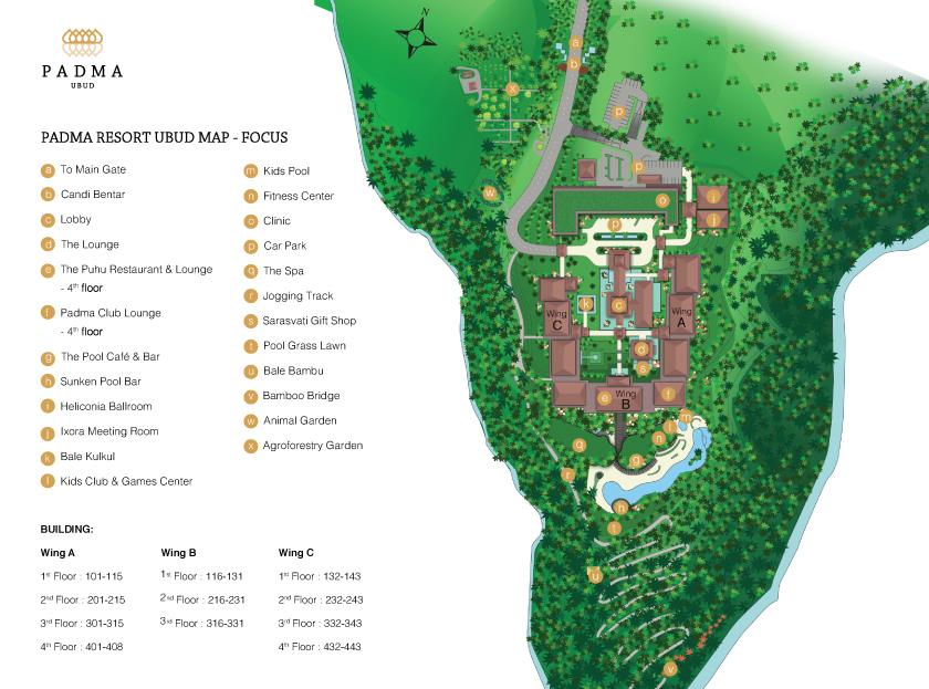 Transportation Resort Facilities Map